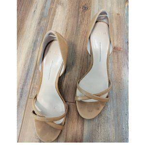 Aerin Cocobay Strappy Heels in Tan